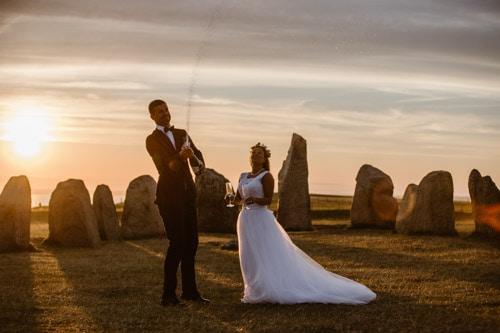 bröllopsfotograf-bröllop-österlen-Ales stenar-Kåseberga