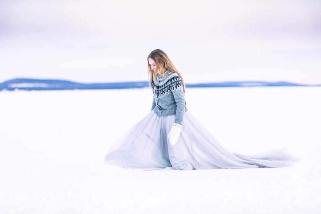 snöprinsessa-bröllop-snö-fotograf-skåne