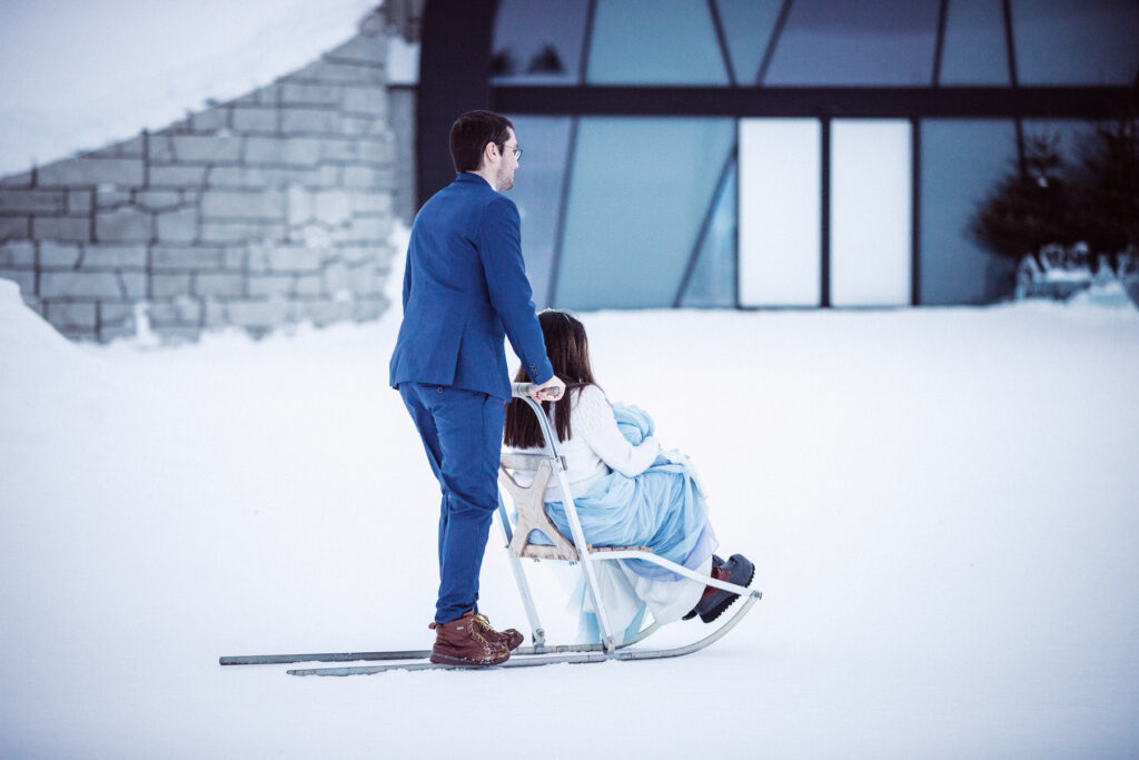 kicksled-elopement-sparkstötting-vinterbröllop