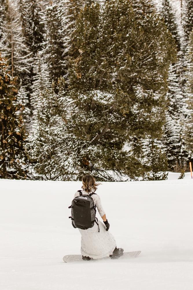 mariée-snowboard-mariage-laique